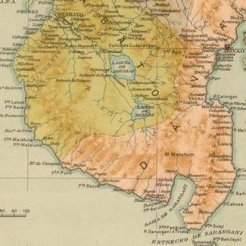 another detail of a spanish map on the mindanao.