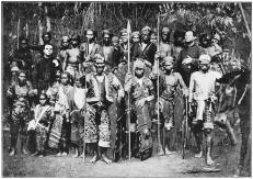 The Datto Manib, Principal Bagani of the Bagobos, with some Wives and Followers and two Missionaries. http://www.gutenberg.org/files/38081/38081-h/38081-h.htm