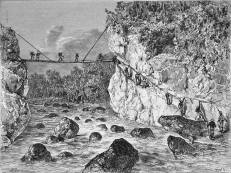 ebayfind: PHILIPPINES- MINDANAO: BAMBOO BRIDGE over the RIO TAGULA (DAVAO)- Engraving 19th does anybody where rio tagula is?