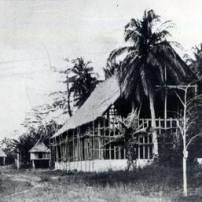 Shown is the church under construction in 1895. Mati, located at the head of Pujada Bay, is the capital of Davao Oriental. retrato.com.ph admin note: we have another photo of the same in the album, not sure if they are one and the same. -Paul.