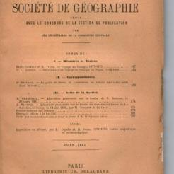 Ebayfind: Bulletin Société Géographie Juin 1881, golfe de Davao et l'ascension volcan Apo Ebayfind: Bulletin Society Geography June 1881, golfe gulf and ascension volcano
